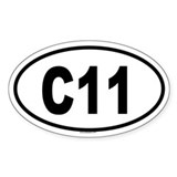 C11 Oval Decal