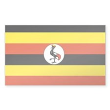 Uganda Rectangle Sticker 50 pk)
