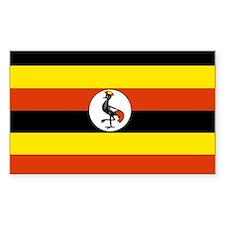 Uganda Rectangle Decal
