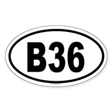 B36 Oval Decal