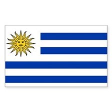 Uruguay Rectangle Decal