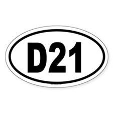 D21 Oval Decal