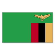 Zambia Rectangle Sticker 10 pk)