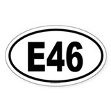 E46 Oval Decal