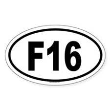 F16 Oval Decal