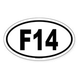 F14 Oval Decal