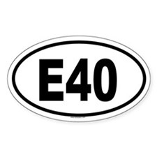 E40 Oval Decal
