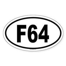 F64 Oval Decal