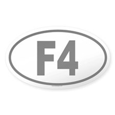 F4 Oval Decal