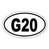 G20 Oval Decal