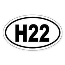 H22 Oval Decal