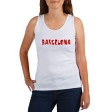 Barcelona Faded (Red) Women's Tank Top