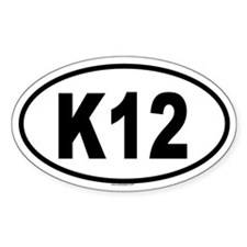 K12 Oval Decal