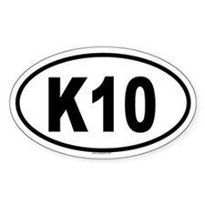 K10 Oval Decal