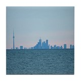 Toronto Skyline At Sunset Tile Coaster