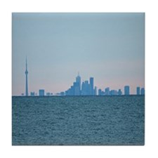 Toronto Skyline At Sunset Tile Coaster