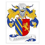 Hermosilla Family Crest Small Poster