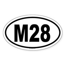M28 Oval Decal