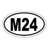 M24 Oval Decal