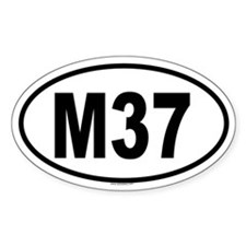 M37 Oval Decal