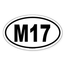 M17 Oval Decal