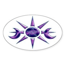 Purple & Blue Pentacle Oval Decal