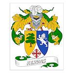 Hervas Family Crest Small Poster