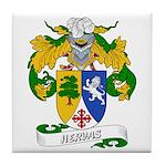 Hervas Family Crest Tile Coaster