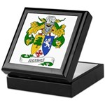 Hervas Family Crest Keepsake Box