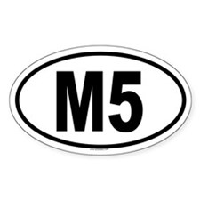 M5 Oval Decal