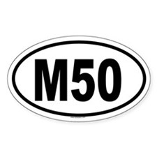 M50 Oval Decal