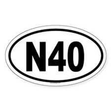 N40 Oval Decal