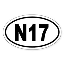 N17 Oval Decal