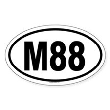 M88 Oval Decal