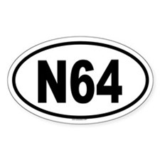 N64 Oval Decal