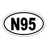 N95 Oval Decal
