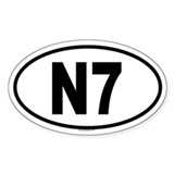 N7 Oval Decal