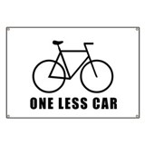 One less car - cycling Banner