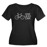One less car - cycling Women's Plus Size Scoop Nec