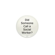 Call a Social Worker Mini Button (100 pack)