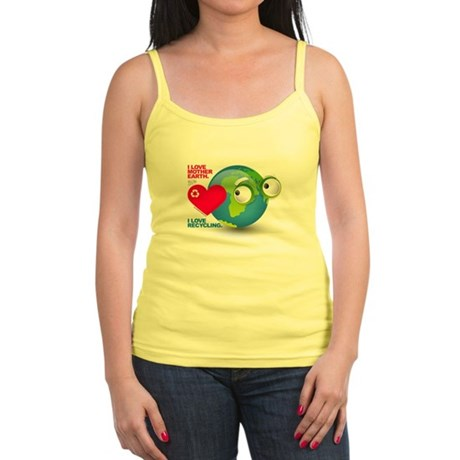 I Love Mother Earth. Recycle Jr. Spaghetti Tank