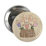 "Country Bunnies 2.25"" Button"