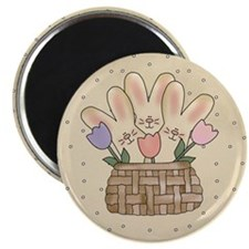 "Country Bunnies 2.25"" Magnet (10 pack)"
