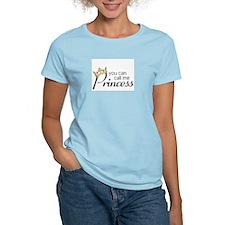 CALL ME PRINCESS Women's Pink T-Shirt