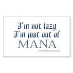 Out of Mana Rectangle Sticker
