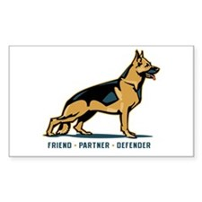 German Shepherd Friend Rectangle Decal
