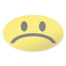 FROWN FACE Oval Decal