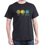 Peace Love Boatbuilding T-Shirt