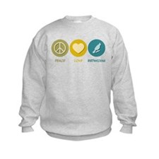 Peace Love Birdwatching Sweatshirt