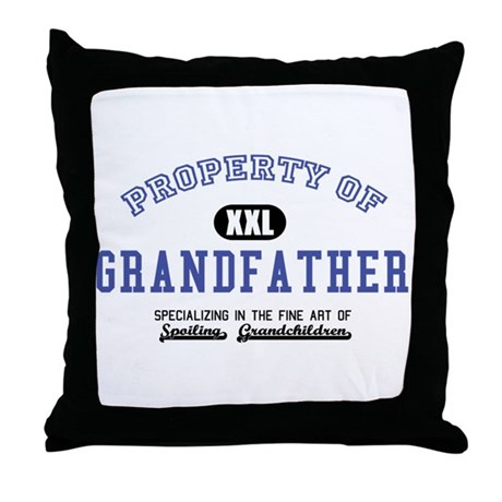 Property of Grandfather Throw Pillow